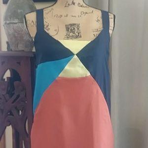 Sugarlips Color Block Mini Pocket Dress